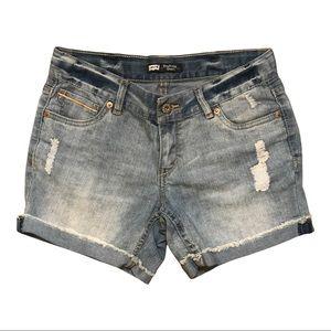 Levi's jean, denim light wash, Boyfriend Shorts,16
